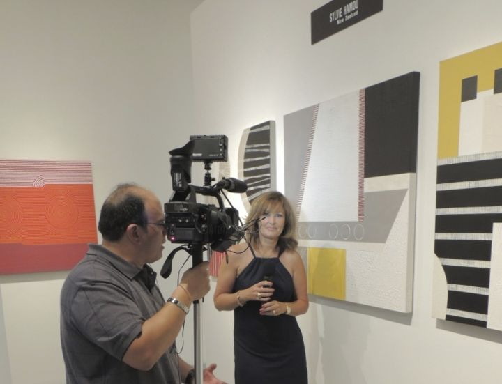Sylvie Hamou at Art Fusion Galleries opening night, 13 July 2013