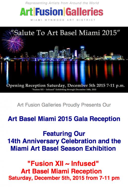 MIami Basel Art 2015,  art fusion galleries,  sylvie hamou,  abstract art