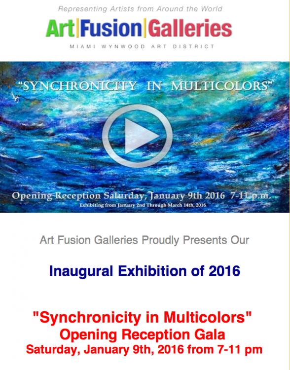 art exhibition Art fusion galleries Miami modern contemporary art sylvie hamou