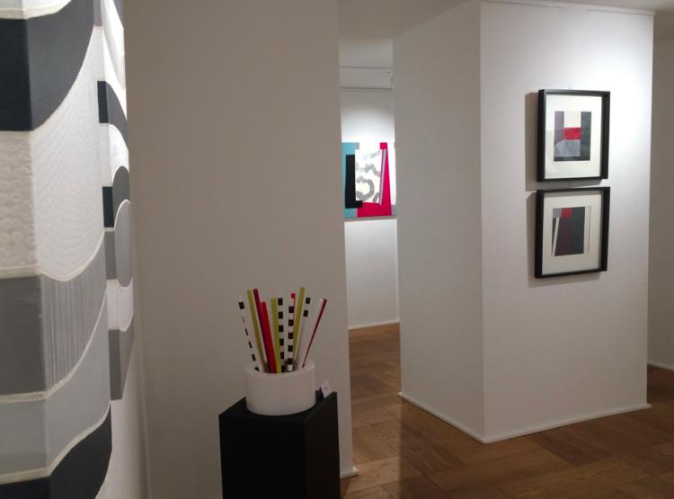 exposition geneve art modern contemporary art design colorful mixed media technique mixte